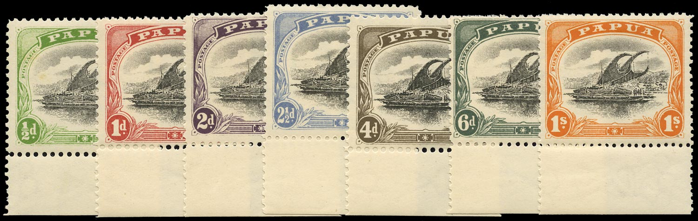PAPUA 1907  SG59/64, 71 Mint