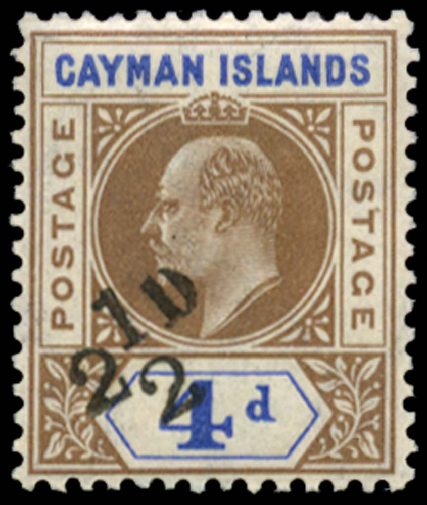 CAYMAN ISLANDS 1908  SG35 Mint
