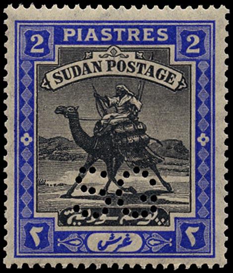 SUDAN 1913  SGO17 Official 2p black and blue unmounted