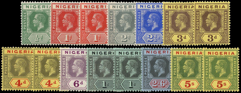 NIGERIA 1914  SG1/10a Mint