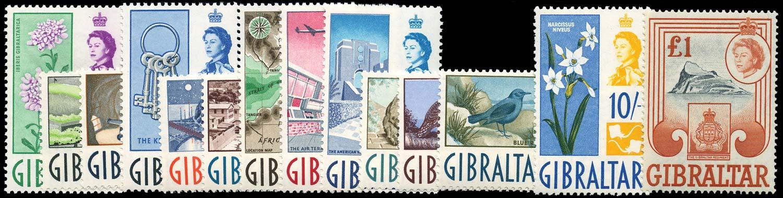 GIBRALTAR 1960  SG160/73 Mint