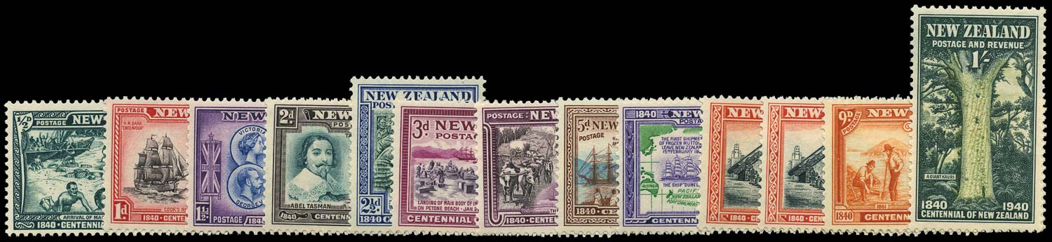 NEW ZEALAND 1940  SG613/25 Mint Centennial set of 13 unmounted