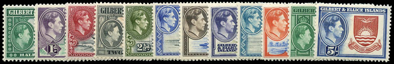 GILBERT & ELLICE IS 1939  SG43/54 Mint set of 12 to 5s unmounted