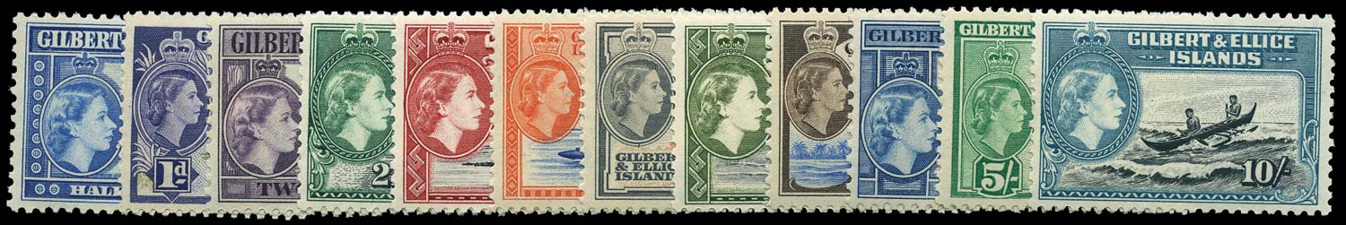 GILBERT & ELLICE IS 1956  SG64/75 Mint set of 12 to 10s unmounted