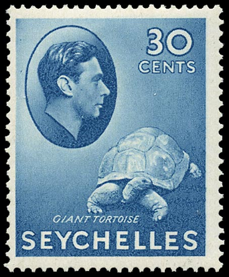 SEYCHELLES 1938  SG142a Mint 30 blue on chalk-surfaced paper unmounted