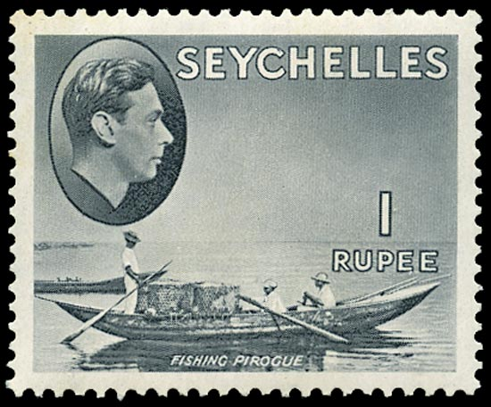 SEYCHELLES 1938  SG146a Mint 1r grey-black on chalk-surfaced paper unmounted