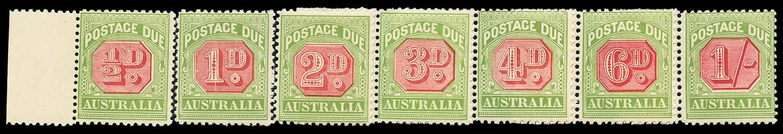 AUSTRALIA 1909  SGD63/69 Postage Due