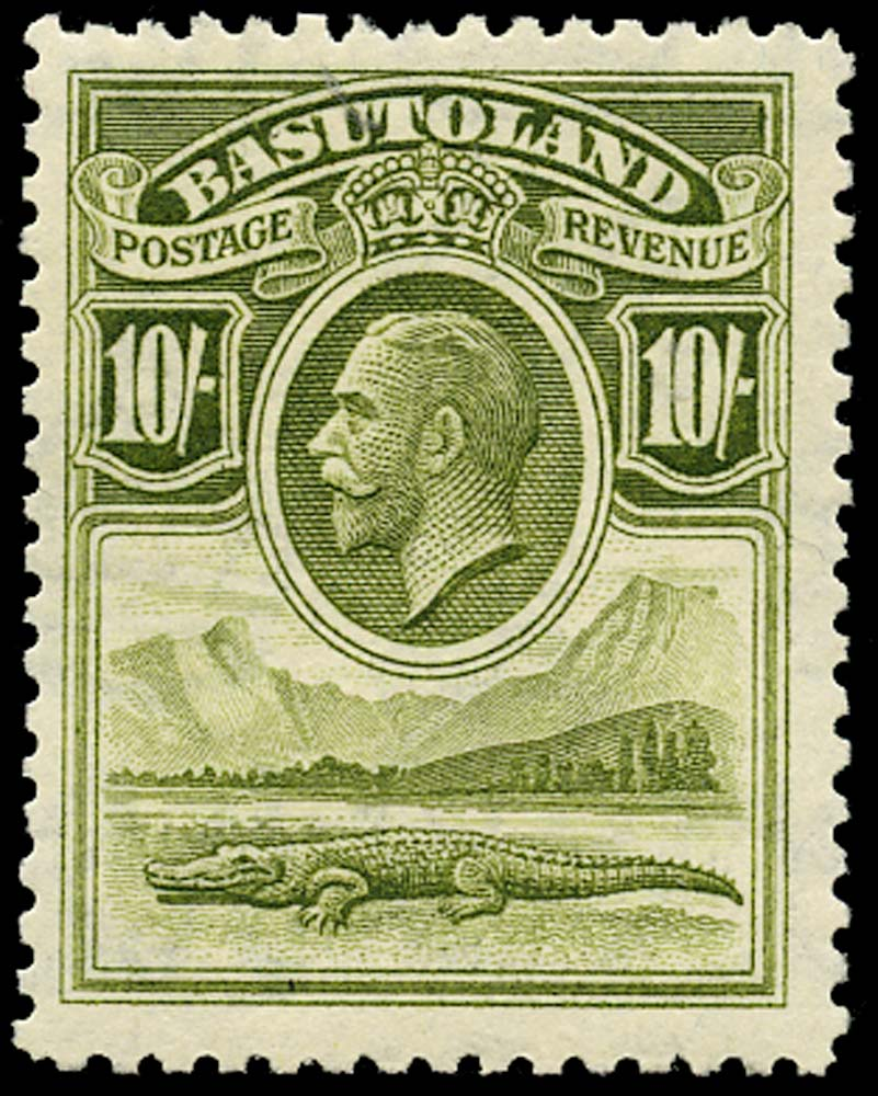 BASUTOLAND 1933  SG10 Mint 10s olive-green unmounted