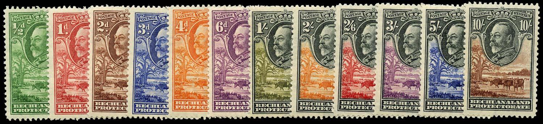 BECHUANALAND 1932  SG99/110 Mint set of 12 to 10s