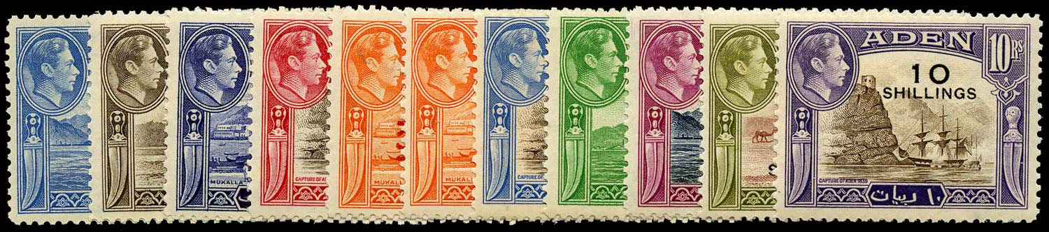 ADEN 1951  SG36/46 Mint New Currency set of 11 unmounted