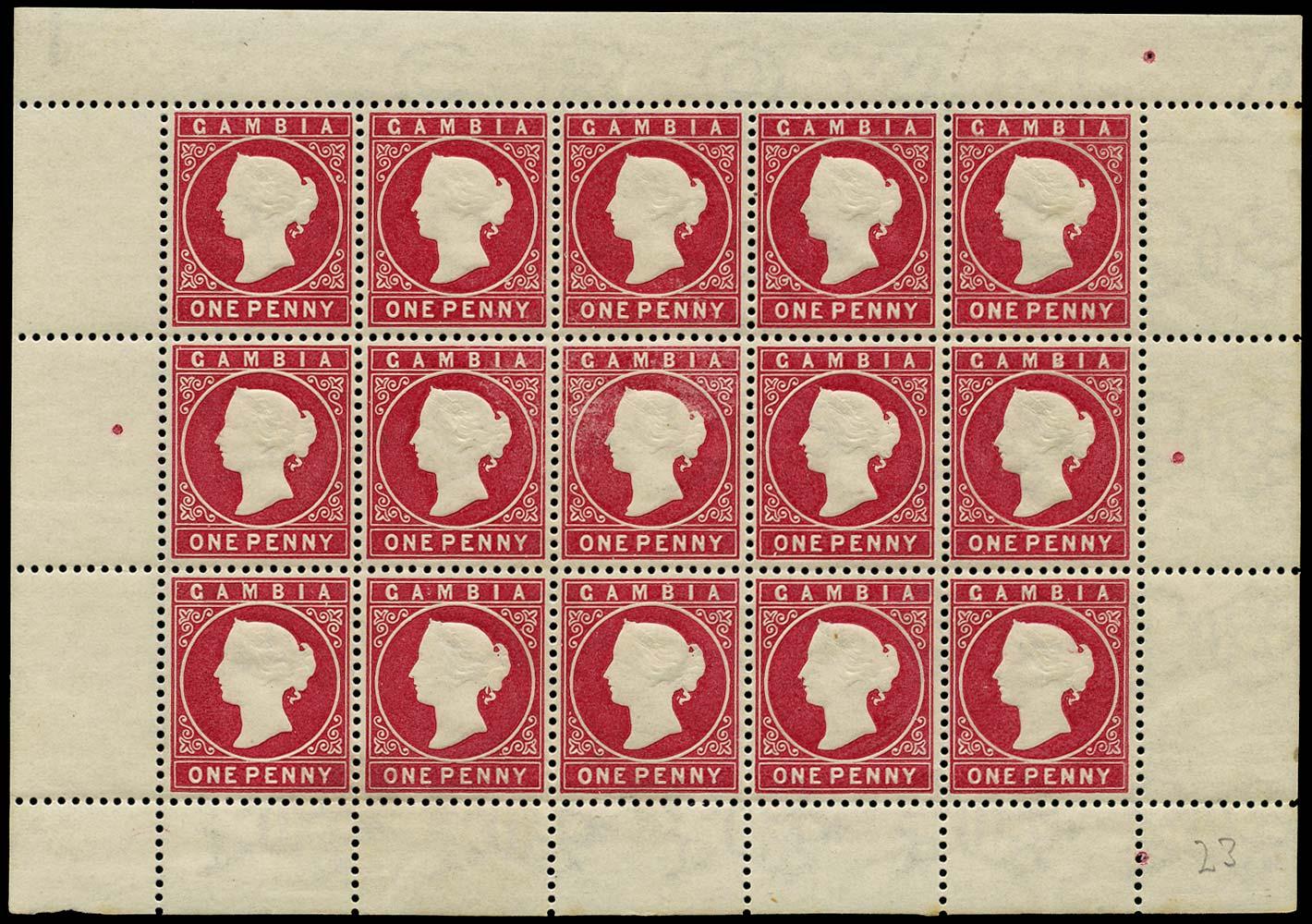 GAMBIA 1886  SG23b Mint