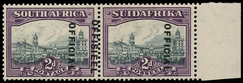 SOUTH AFRICA 1930  SGO14 var Official
