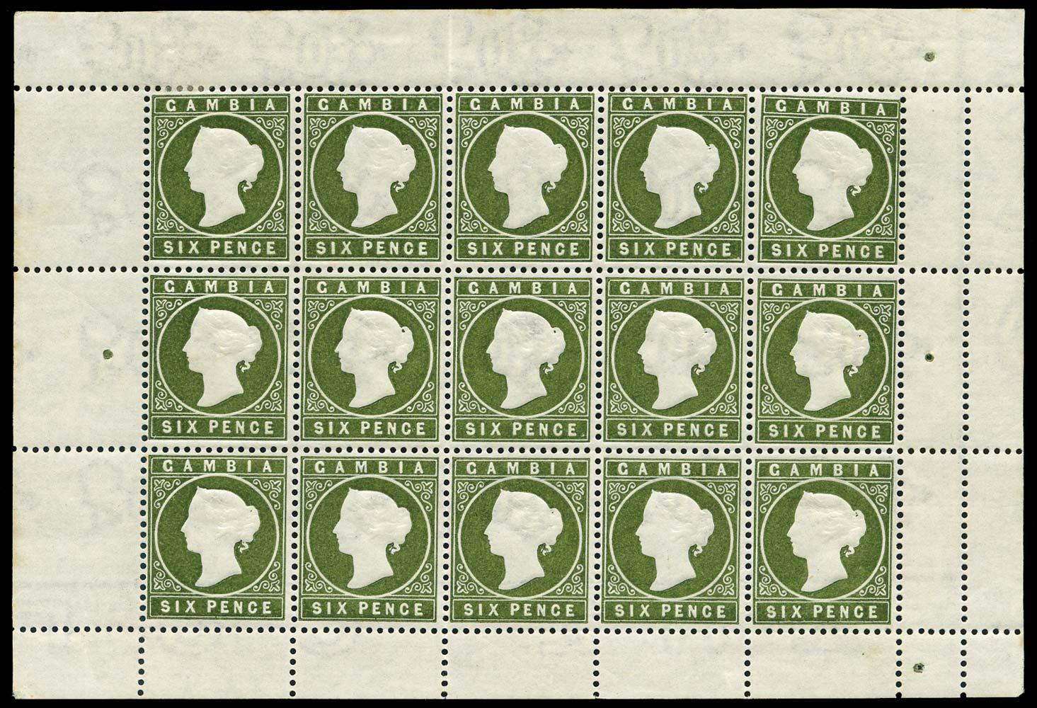 GAMBIA 1886  SG33c/ca Mint