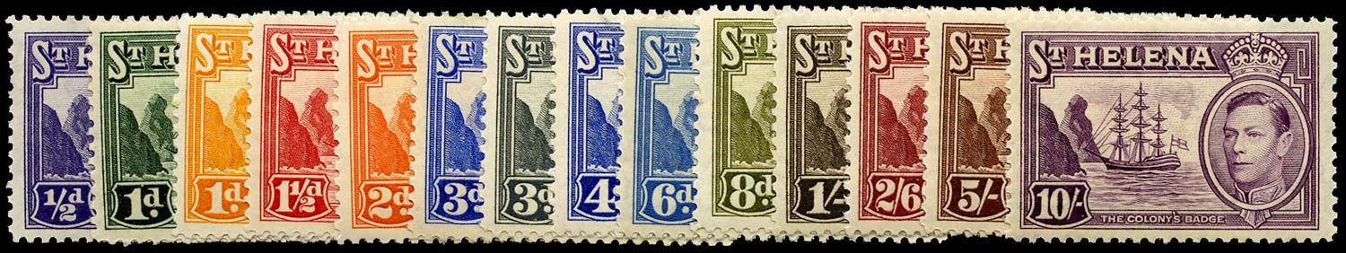 ST HELENA 1938  SG131/40 Mint set of 14 to 10s unmounted