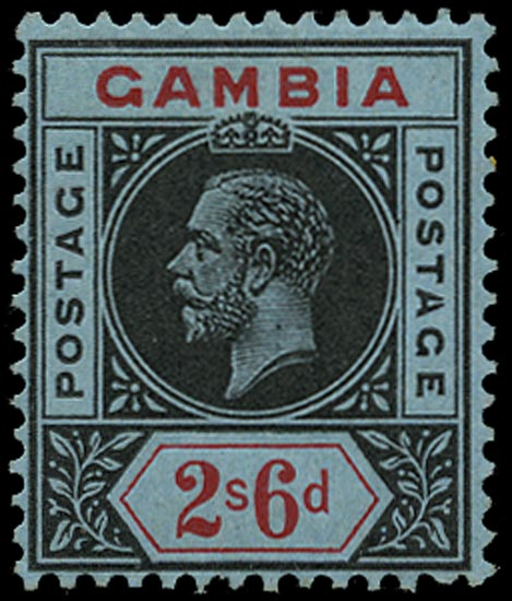 GAMBIA 1912  SG100a Mint