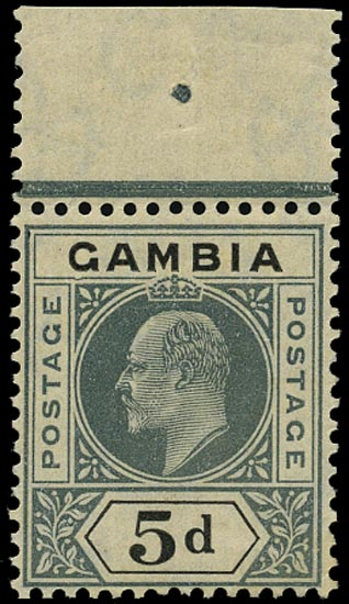 GAMBIA 1912  SG63a Mint