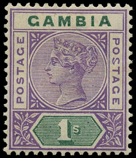GAMBIA 1898  SG44a Mint variety Malformed