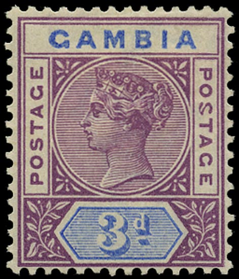 GAMBIA 1898  SG41a Mint variety Malformed