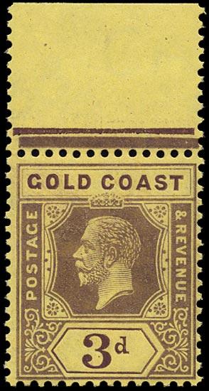 GOLD COAST 1913  SG77e Mint