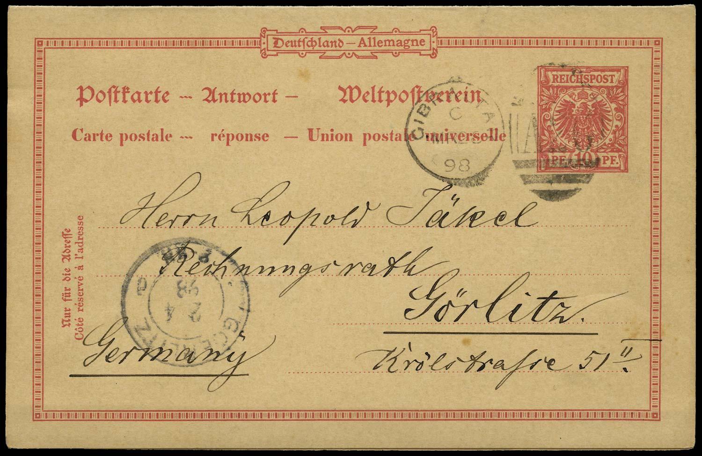 GIBRALTAR 1898 Cover