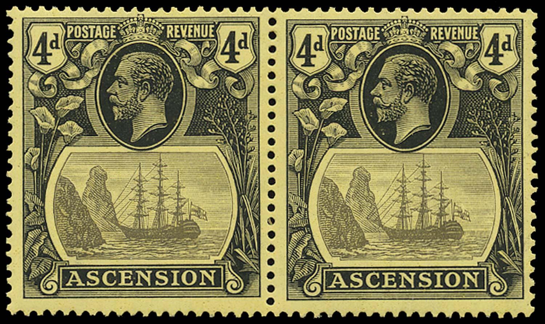 ASCENSION 1924  SG15/b Mint