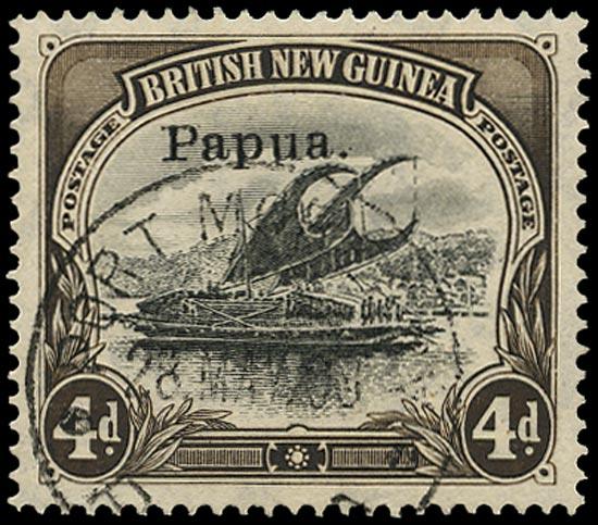 PAPUA 1907  SG42a Used