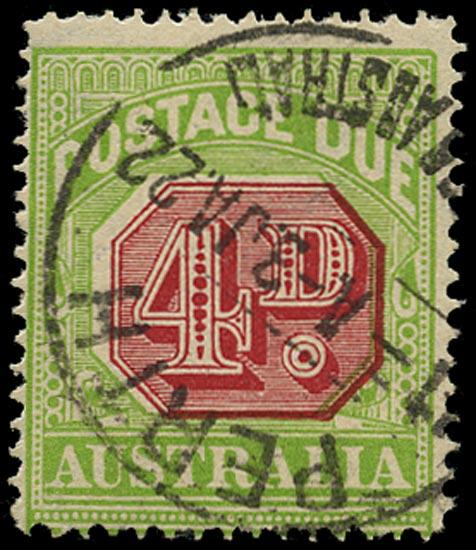 AUSTRALIA 1912  SGD83ba Postage Due watermark sideways