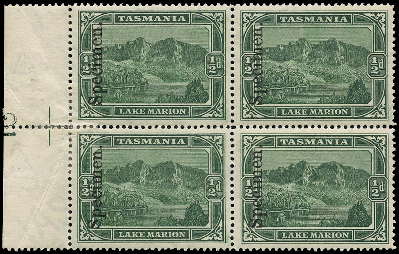 TASMANIA 1899  SG229s Specimen