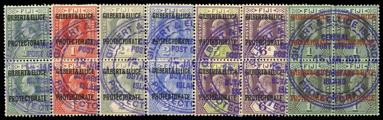 GILBERT & ELLICE IS 1911  SG1/7 Cancel