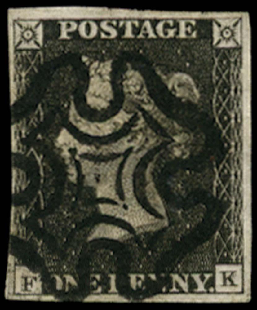 GB 1840  SG3 Pl.7 Penny Black
