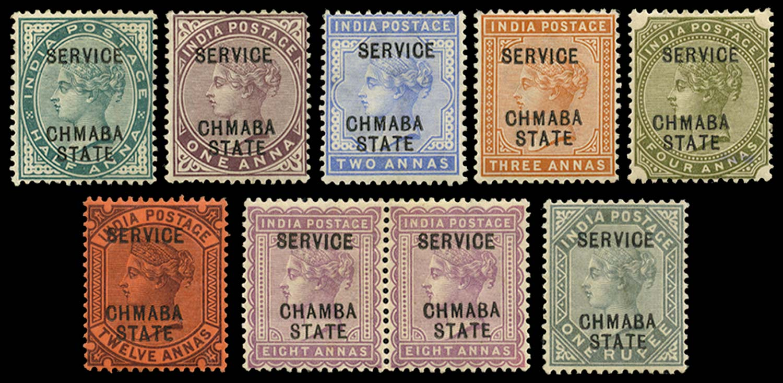 I.C.S. CHAMBA 1887  SGO1a/15a Official