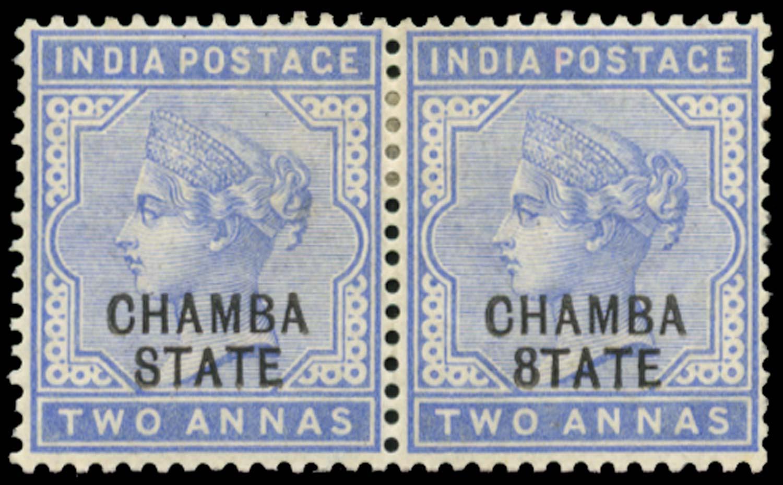 I.C.S. CHAMBA 1887  SG5/c Mint