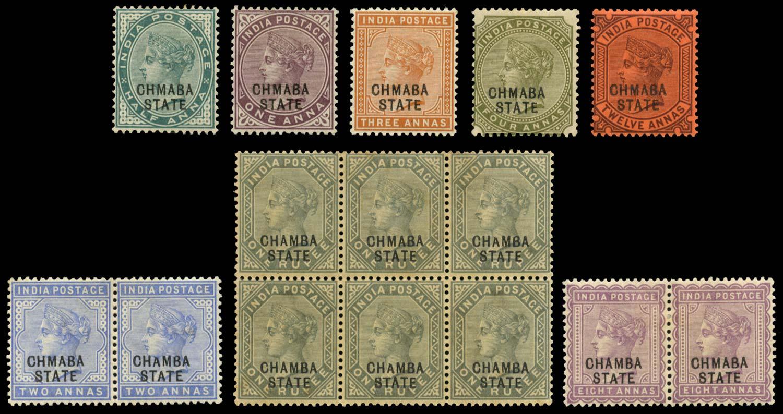 I.C.S. CHAMBA 1887  SG1a/17a Mint