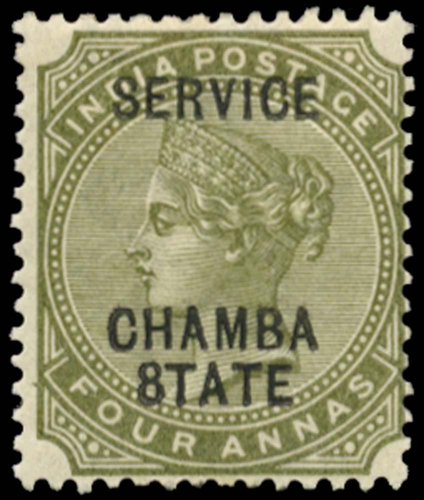 I.C.S. CHAMBA 1887  SGO8c Official