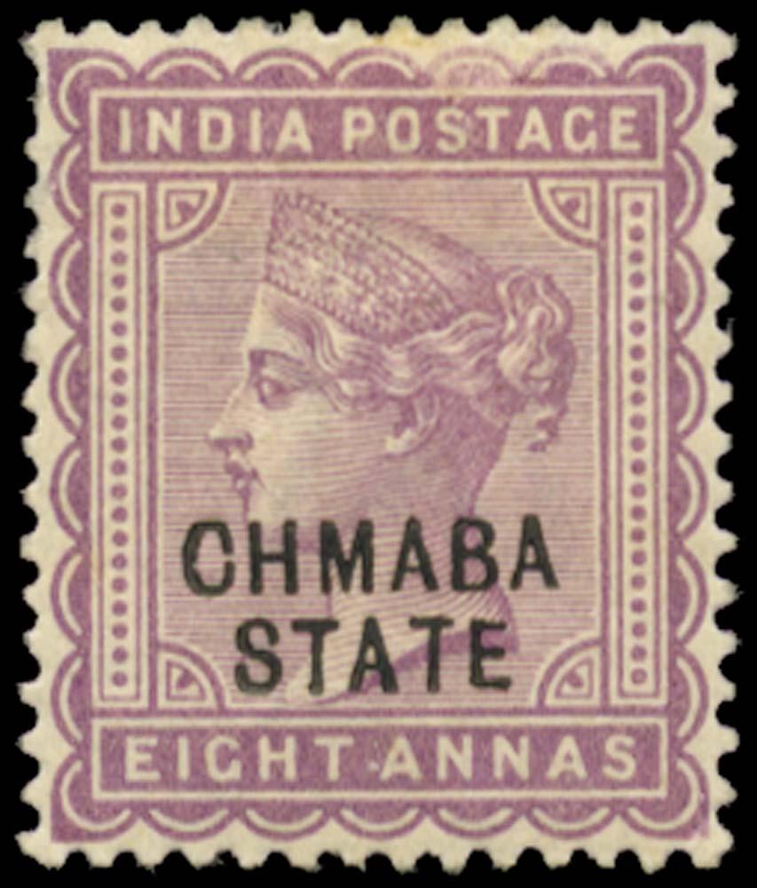 I.C.S. CHAMBA 1887  SG14a Mint