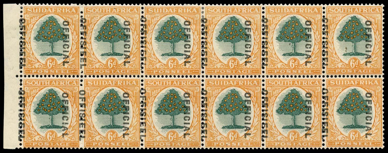 SOUTH AFRICA 1930  SGO16/b var Official