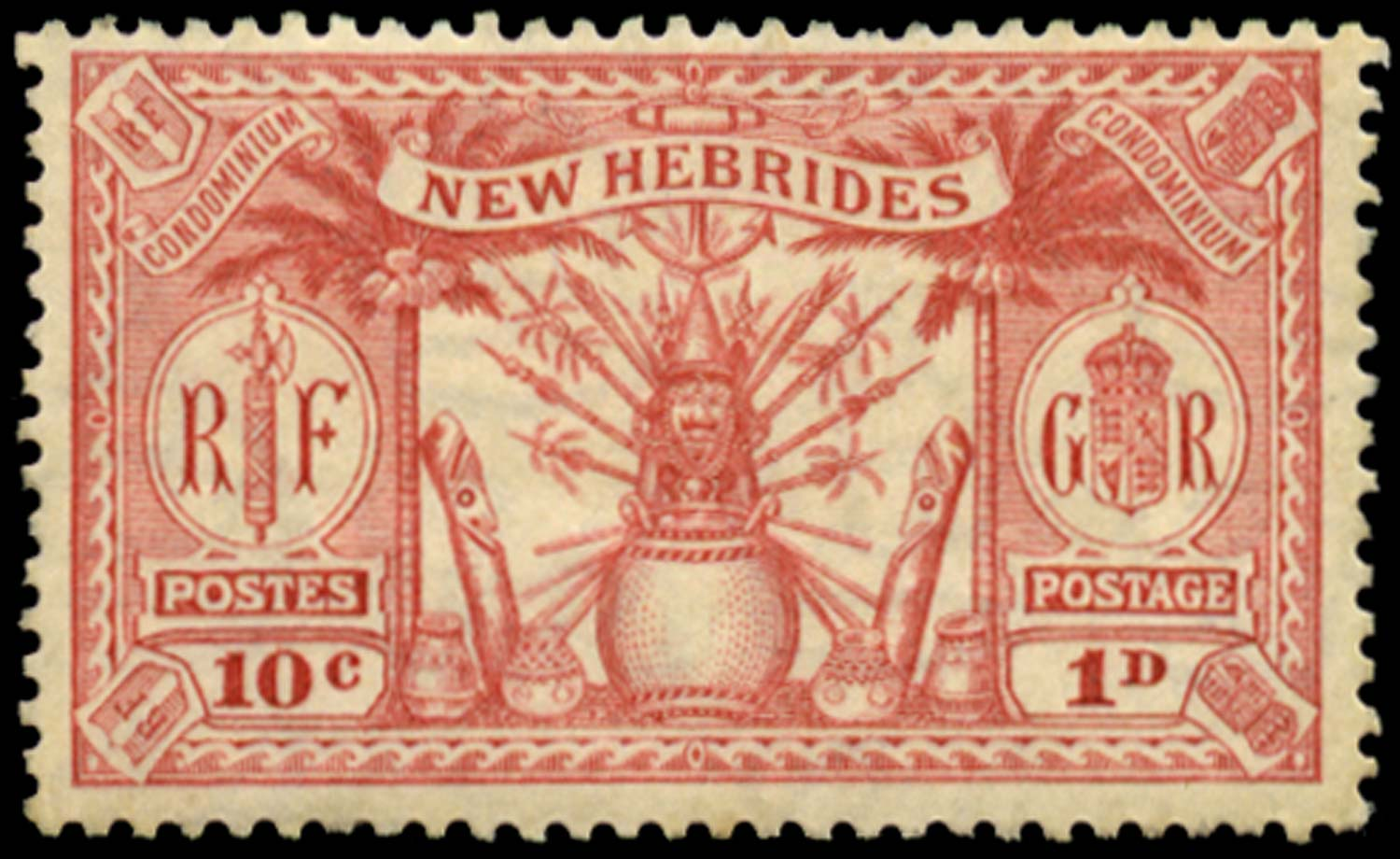 NEW HEBRIDES 1925  SG44 Proof