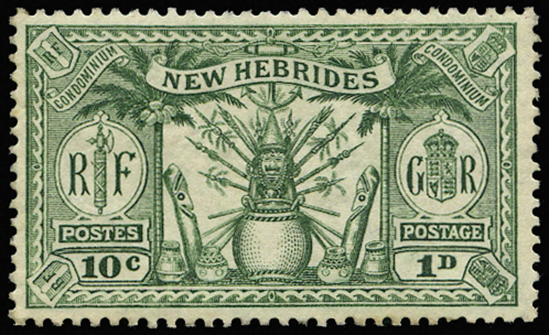 NEW HEBRIDES 1925  SG44 Proof