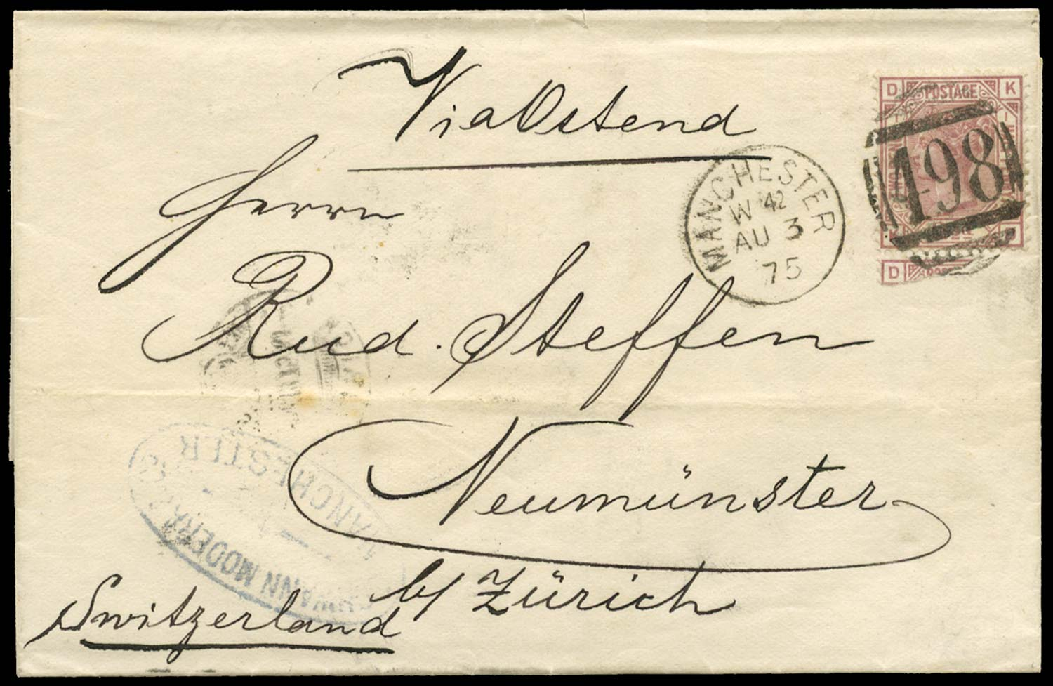 GB 1875  SG139 Pl.1 Cover
