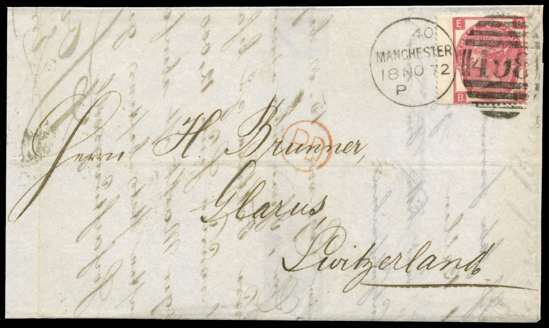 GB 1872  SG103 Pl.8 Cover