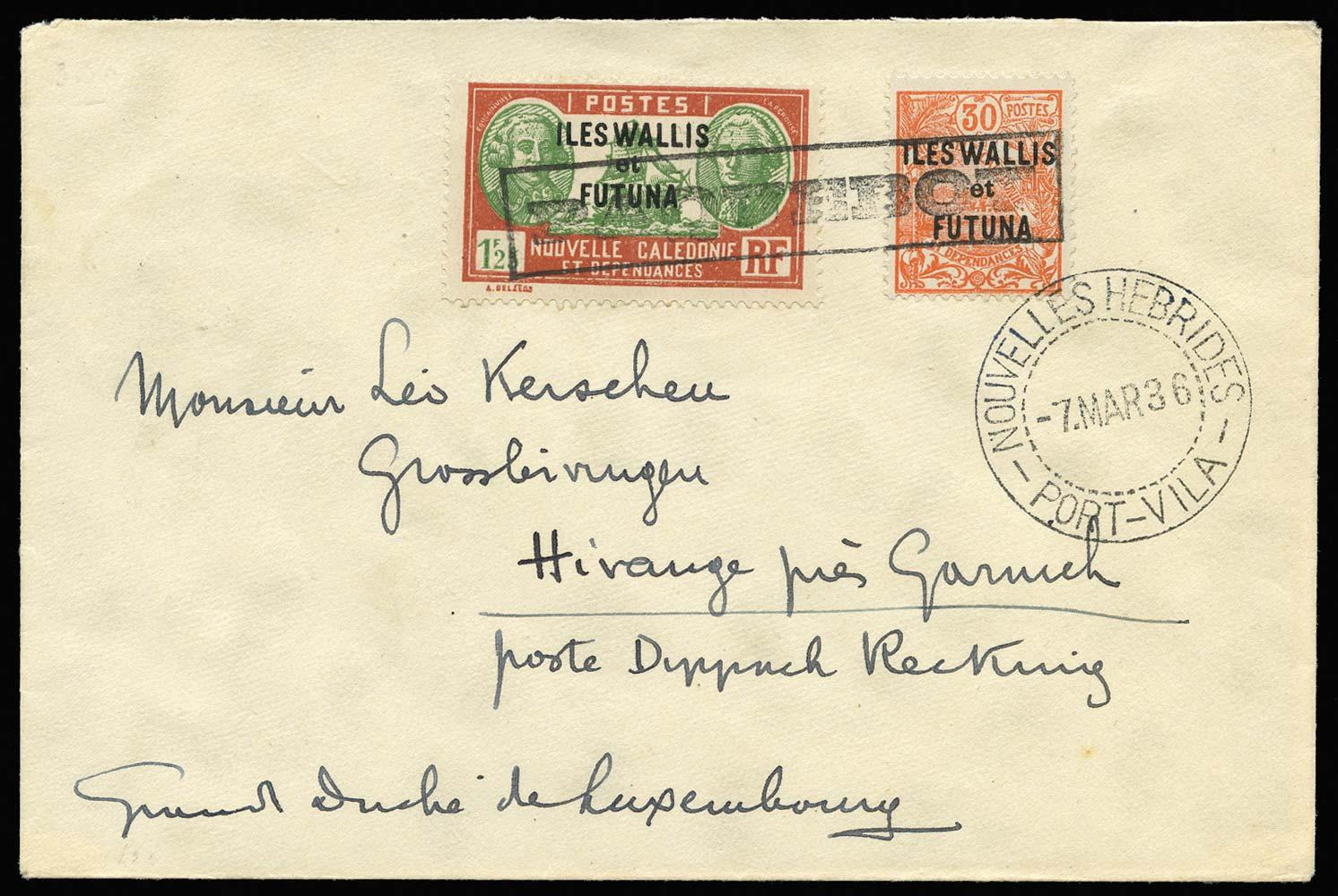 NEW HEBRIDES 1936 Cover