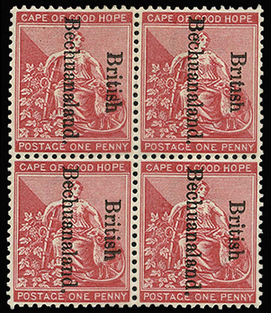 BECHUANALAND 1893  SG38/d/e Mint