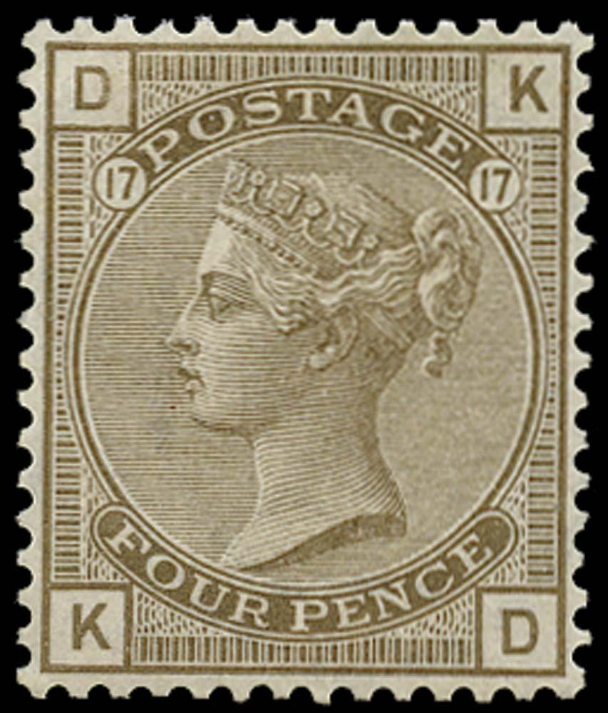 GB 1880  SG154 Pl.17 Mint