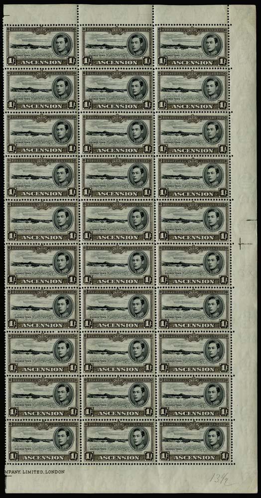 ASCENSION 1938  SG44 Mint