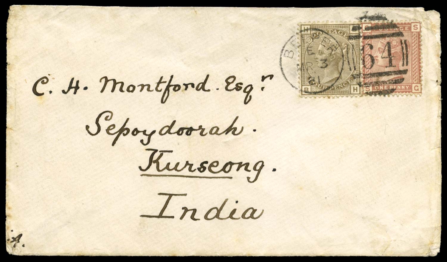 GB 1881  SG160,166 Cover