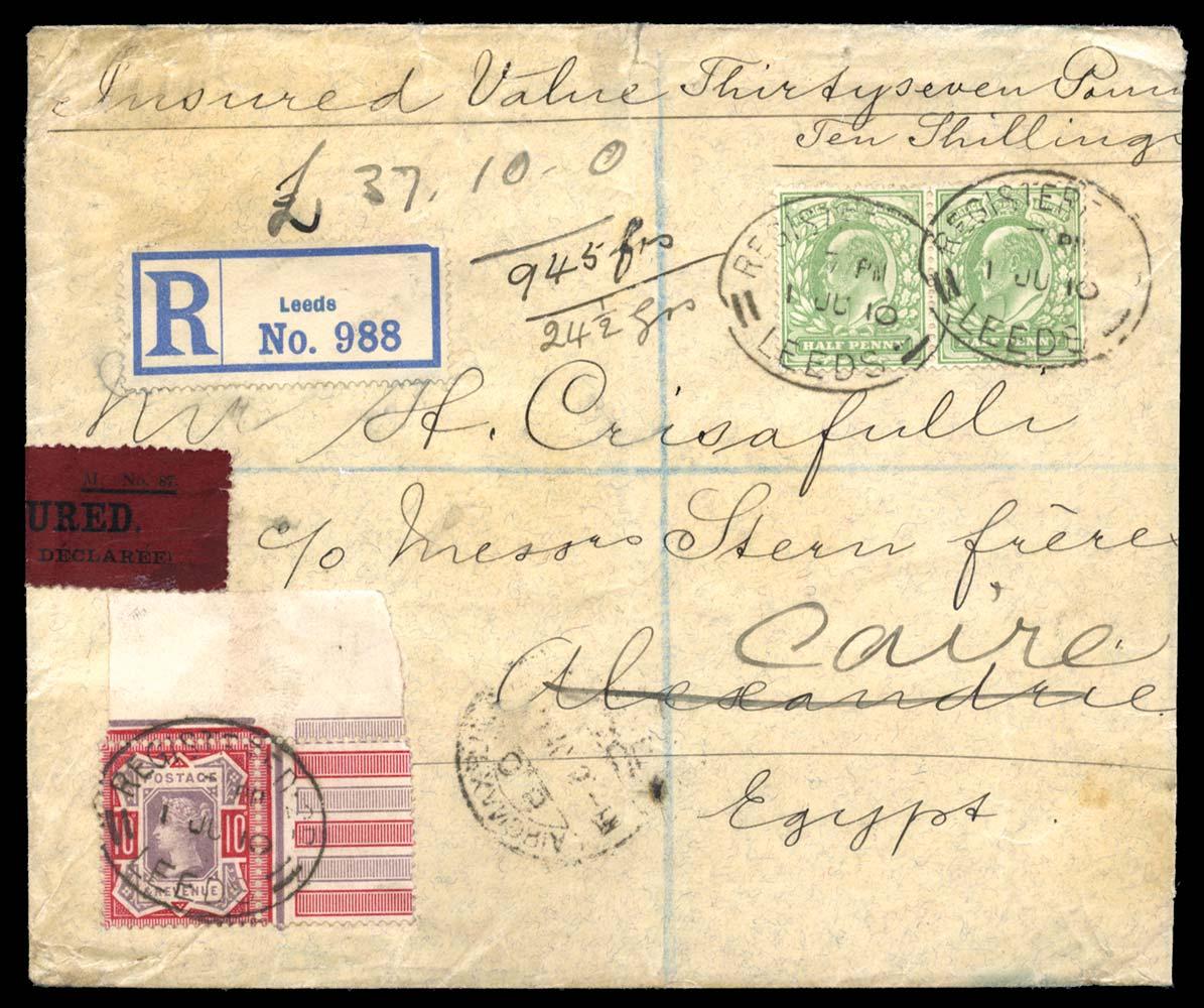 GB 1910  SG210,218 Cover