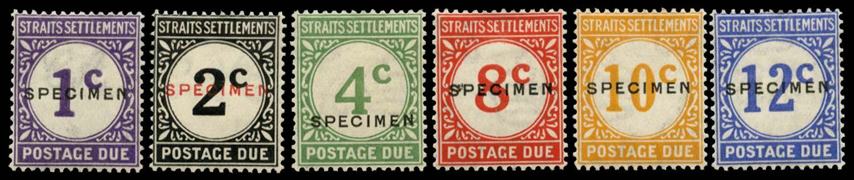 MALAYA - STRAITS 1924  SGD1s/6s Specimen