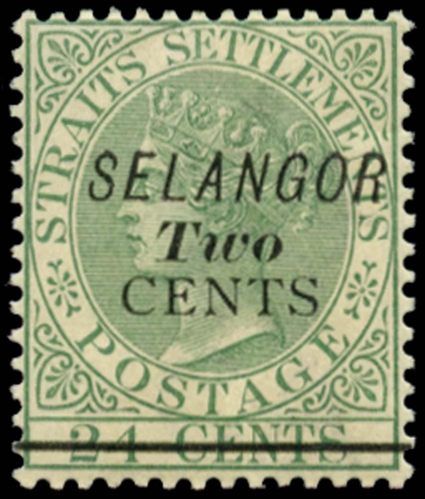 MALAYA - SELANGOR 1891  SG44 Mint