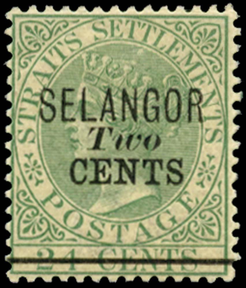 MALAYA - SELANGOR 1891  SG45 Mint