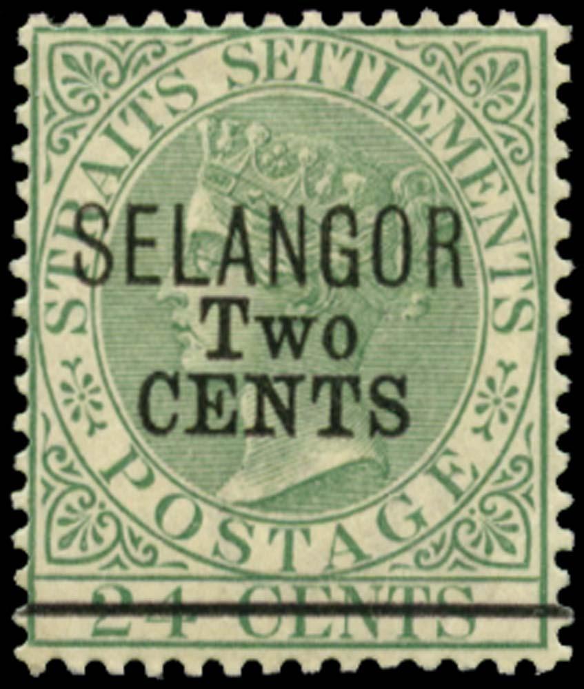 MALAYA - SELANGOR 1891  SG46 Mint